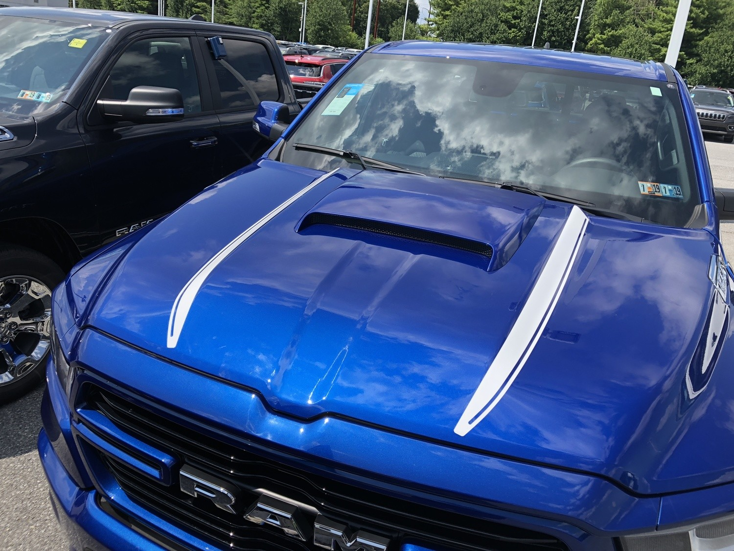 2019 - Up Dodge Ram Hood Side Spear Decals