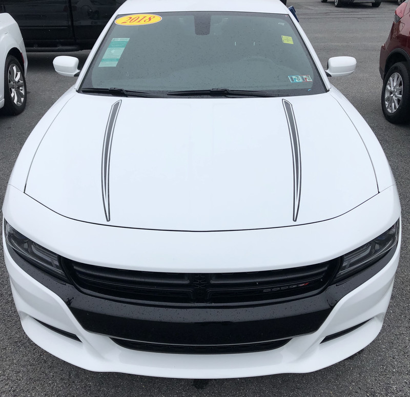 2015 - up Dodge Charger Hood Spear Graphics