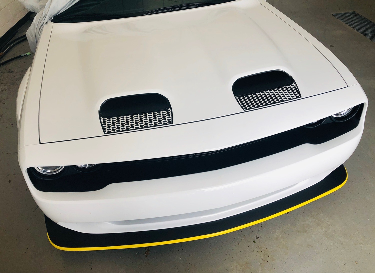 2019 - Up Dodge Challenger SRT Hellcat Dual Scoop Hood Scoop Insert Blackouts