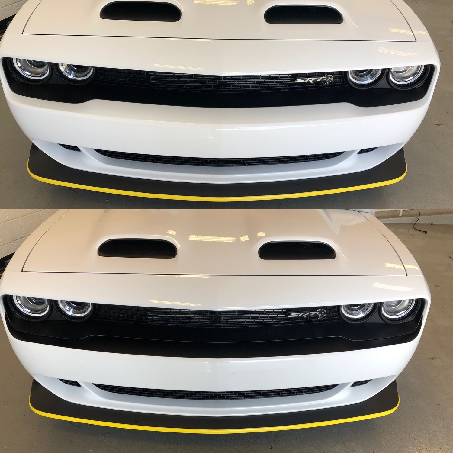 2015 - Up Dodge Challenger RT SXT GT Hellcat Bumper Blackout Decals Front and Rear Kit