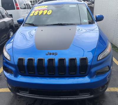 2014 - Up Jeep Cherokee Trailhawk Style Hood Blackout Decal