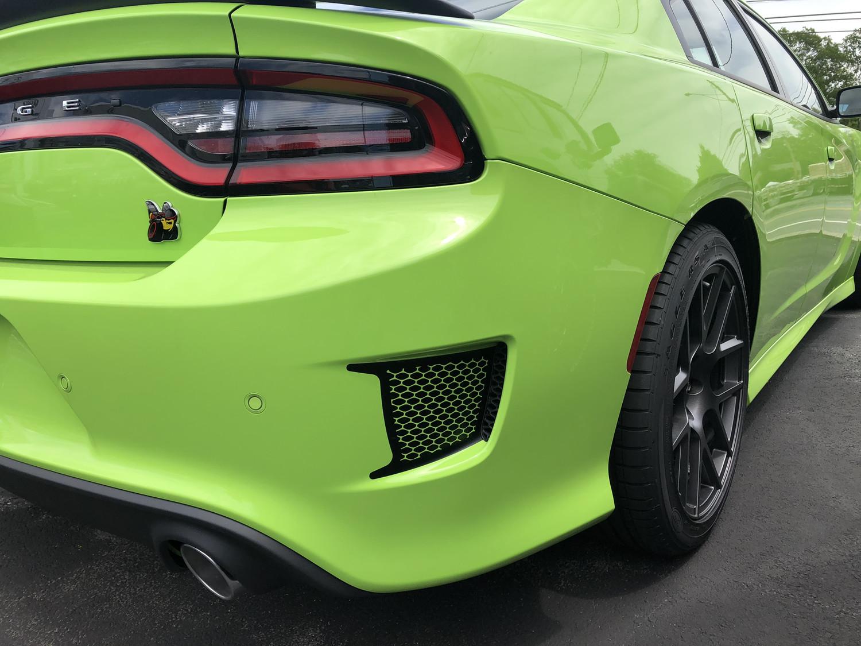 2015 - 2019 Dodge Charger SRT Hellcat Daytona RT Scat Pack Bumper Vent Blackout Graphics
