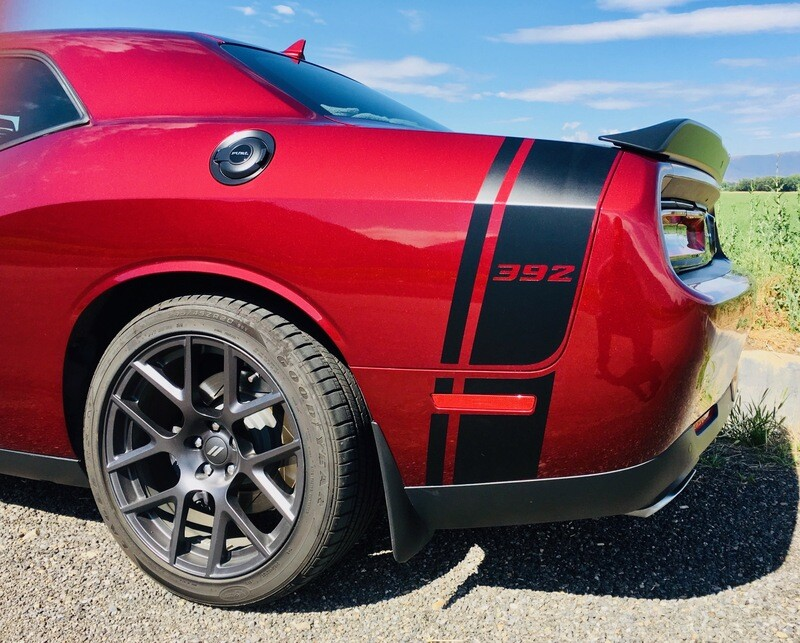 2008 - Up Dodge Challenger Scat Pack Style Tail Stripes