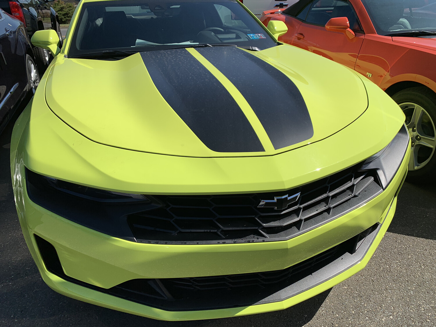 2019 - up Camaro Coupe Factory Style Dual Rally Stripes SS RS LT V8 V6 Turbo 4