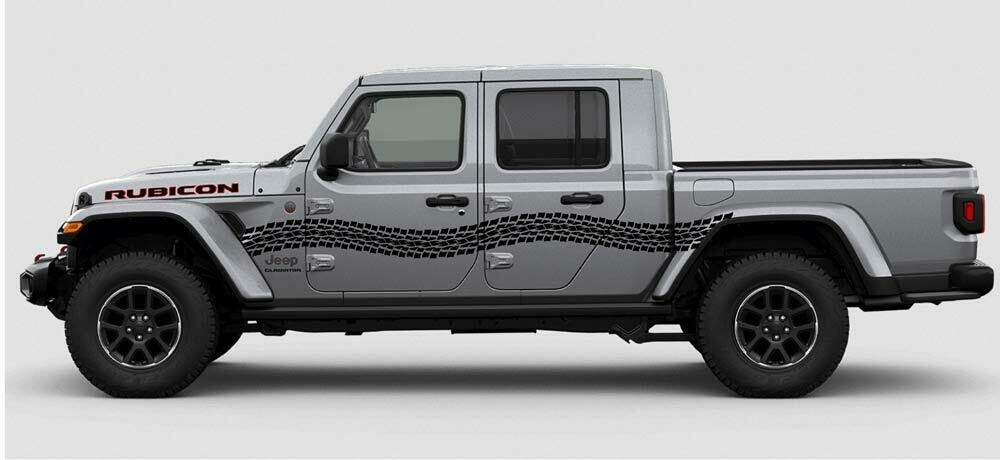 Jeep Gladiator JT Wrangler JK JKU  JL JLU Large Curved Tire Tracks Graphics