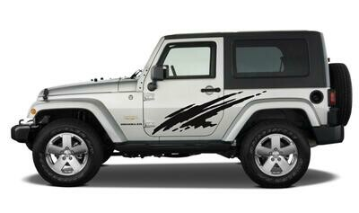 Jeep Wrangler JK JL Large Side Splash Vinyl Graphics