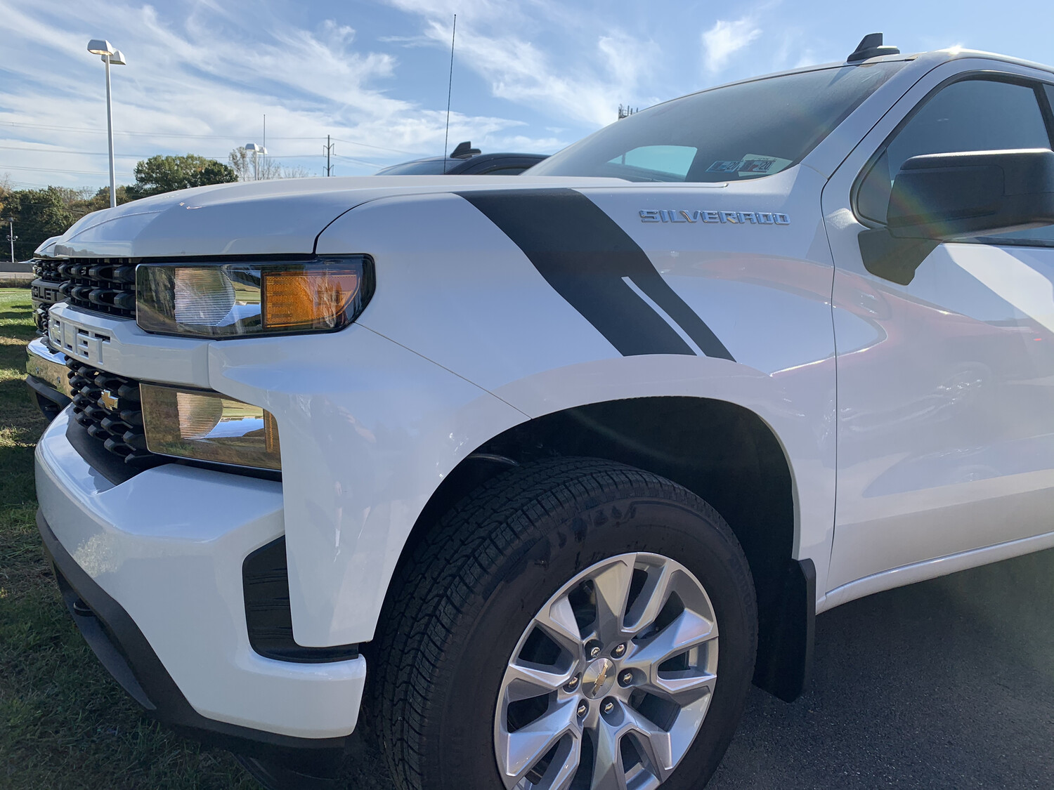 2019 - Up Silverado 1500 Fender Hash Mark Vinyl Graphics