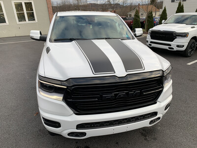 2019 - Up Ram 1500 Standard Hood and Tailgate Rally Stripes