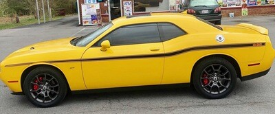 2008 - Up Dodge Challenger Yellow Jacket Style Stripe Kit