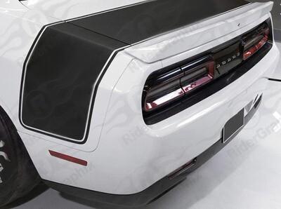 2008 - Up Dodge Challenger Drag Pack Wide Tail Stripes