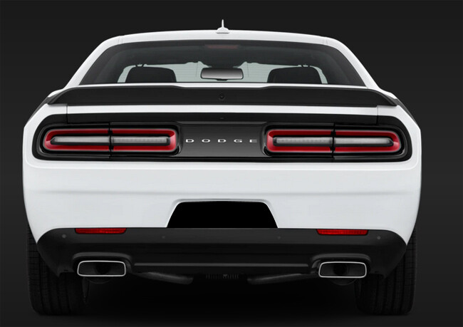 2015 - Up Dodge Challenger RT SXT GT Hellcat Rear License Recess Blackout