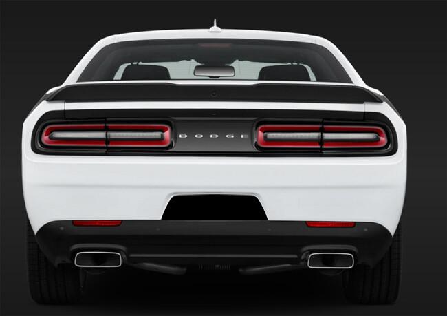 2015 - Up Dodge Challenger RT SXT GT Hellcat Rear License Recess Blackout