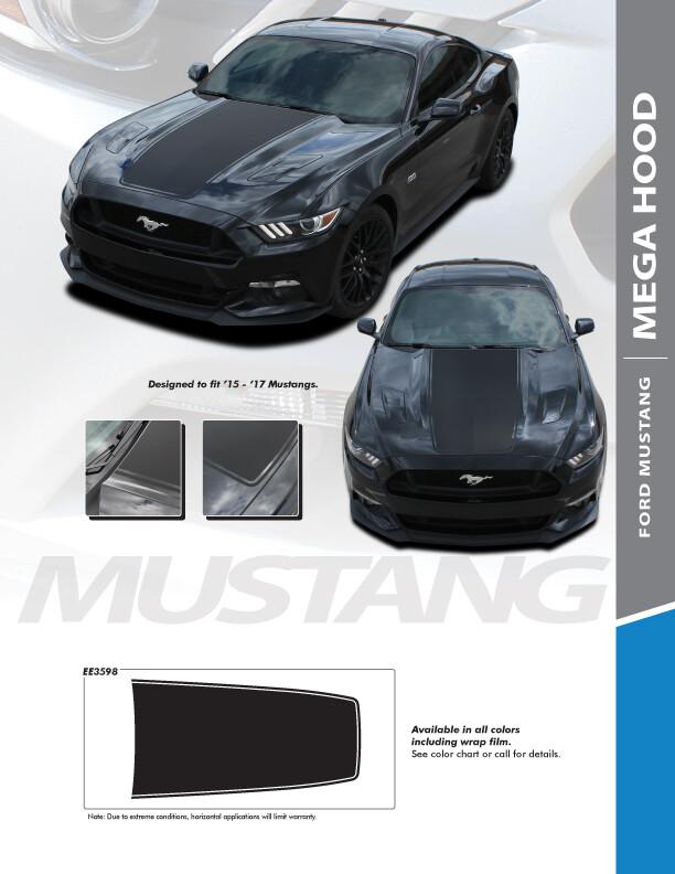 2015 - 2017 Mustang MEGA Hood Blackout Graphics
