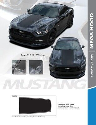 2015 - 2017 Mustang MEGA Hood Blackout Graphics