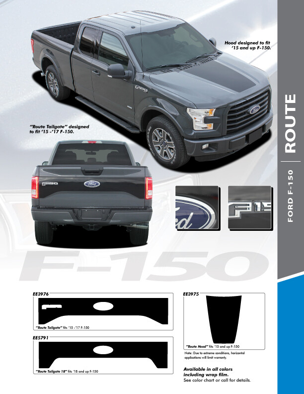 2015 - Up Ford F150 Route Tailgate Only Graphics