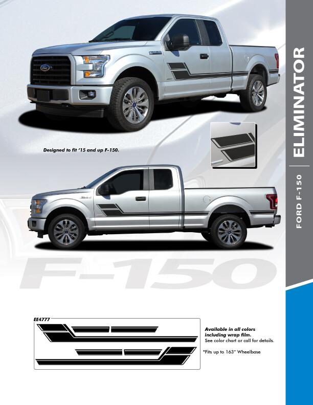2015 - Up Ford F150 Eliminator Side Stripes