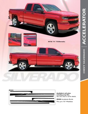 2014 - 2018 Silverado 1500 Accelerator Edition Graphic Stripes