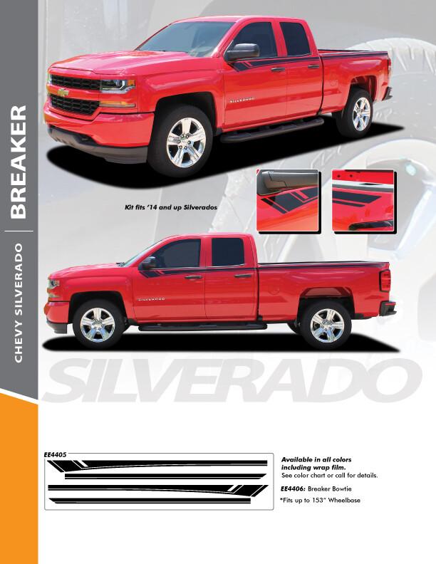 2014 - 2018 Silverado 1500 Breaker Edition Graphic Stripes