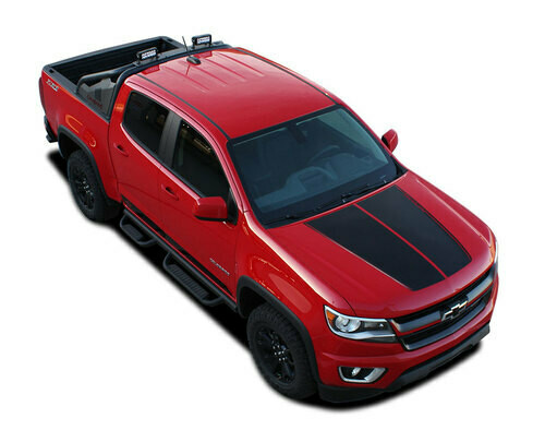 2015 - Up Chevy Colorado Summit Hood Graphics