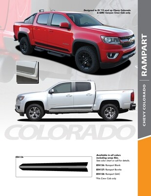 2015 - Up Chevy Colorado Crew Cab Rampart Rocker Stripe Vinyl Graphics