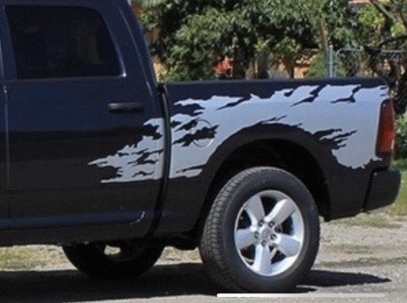 2009 - 2020 Classic Dodge Ram Bedside Rage Style Vinyl Graphics