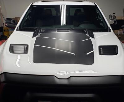 2019 - Up Dodge Ram Large Rebel Hood Vinyl Graphics