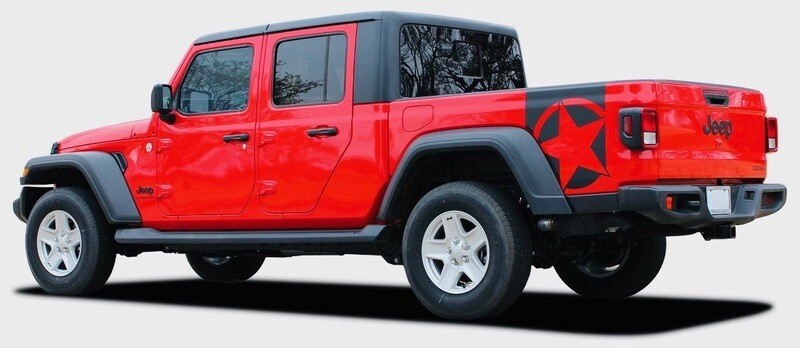 2020 - Up Jeep Gladiator JT Bootstrap Side Star Graphics