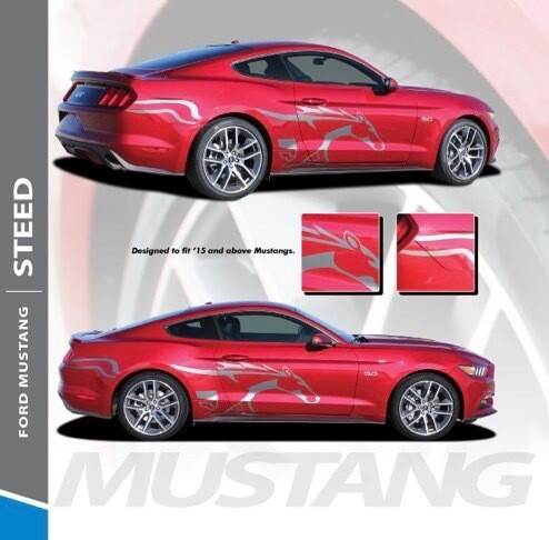 2015 - Up Mustang Steed Side Pony Graphics