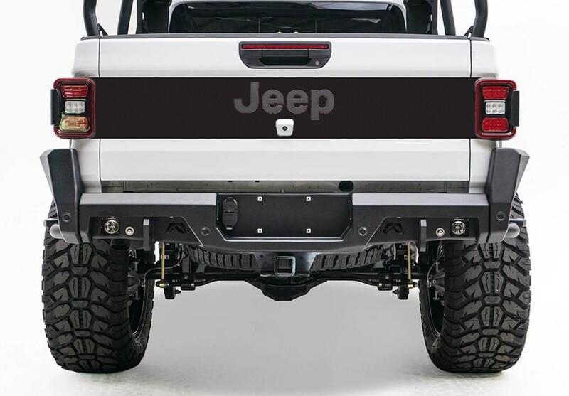 2020 - Up Jeep Gladiator JT Tailgate Blackout Vinyl Graphics
