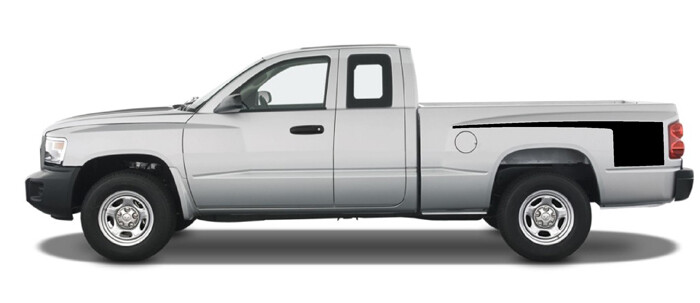 1997 - 2011 Dodge Dakota Retro Hockey RT Style Bed Stripes