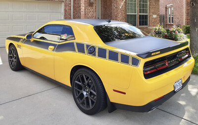 2017 - Up Dodge Challenger Extension Stripes for Factory TA Stripe