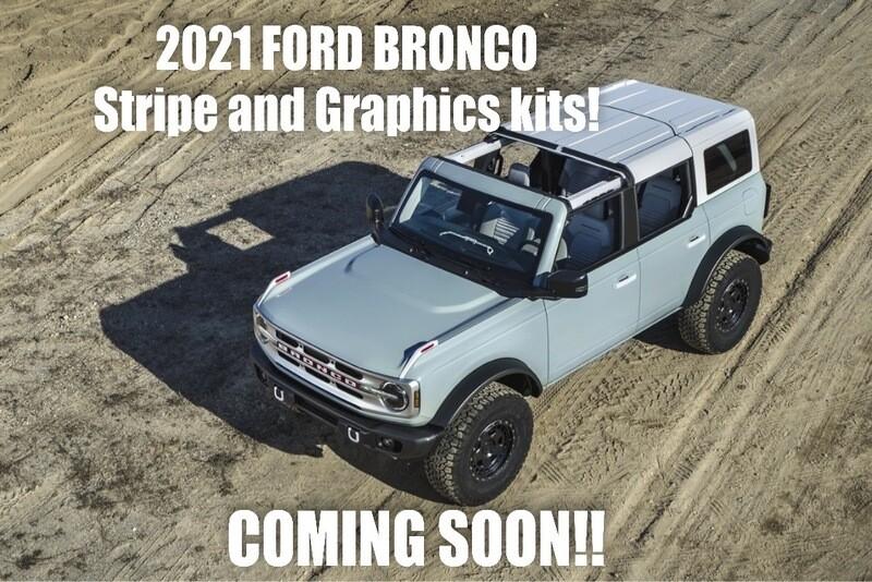 2021-up Ford Bronco Retro Graphics Kit #1