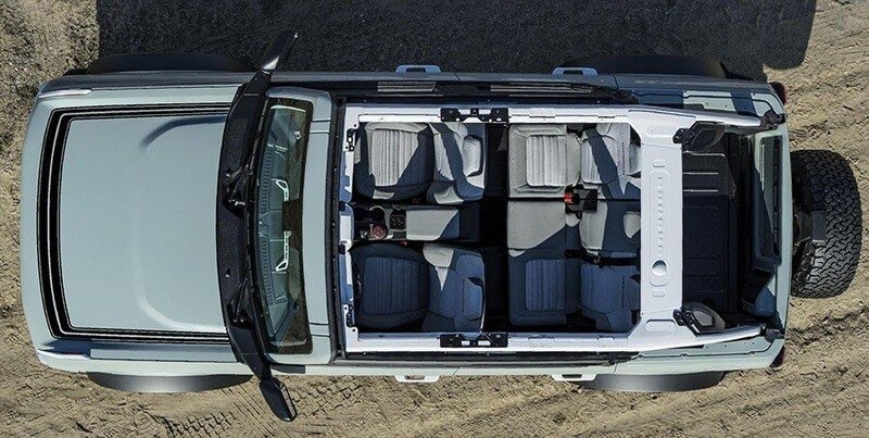 2021-up Ford Bronco Retro Explorer Style Hood Graphics Kit