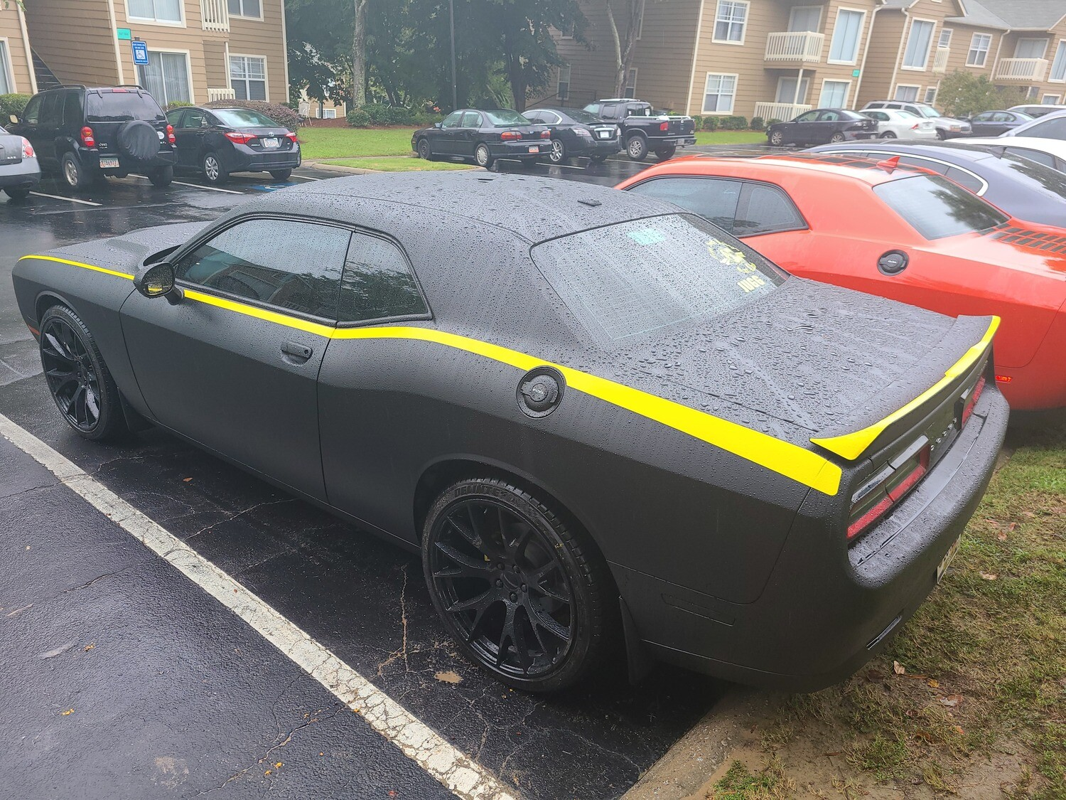 2015 - Up Dodge Challenger Rear Spoiler Top Surface Decal Kit