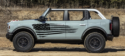 2021-up Ford Bronco Large Tattered Flag Graphics Kit