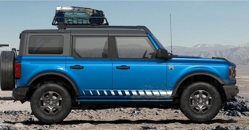 2021-up Ford Bronco Rocker Stripe Side Graphics Kit