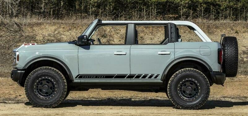 2021-up Ford Bronco Rocker Stripe Side Graphics Kit #3