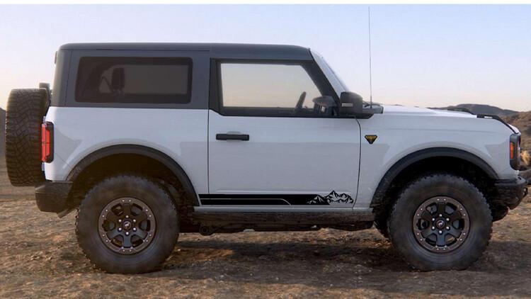 2021-up Ford Bronco Rocker Stripe Side Graphics Kit #2
