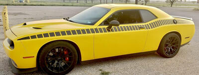 2008 - Up Dodge Challenger Gen 2 AAR Style Full Upper Strobe Stripes
