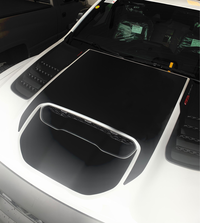 2021 - UP Ram 1500 TRX Hood Scoop Insert Blackout Decal Kit