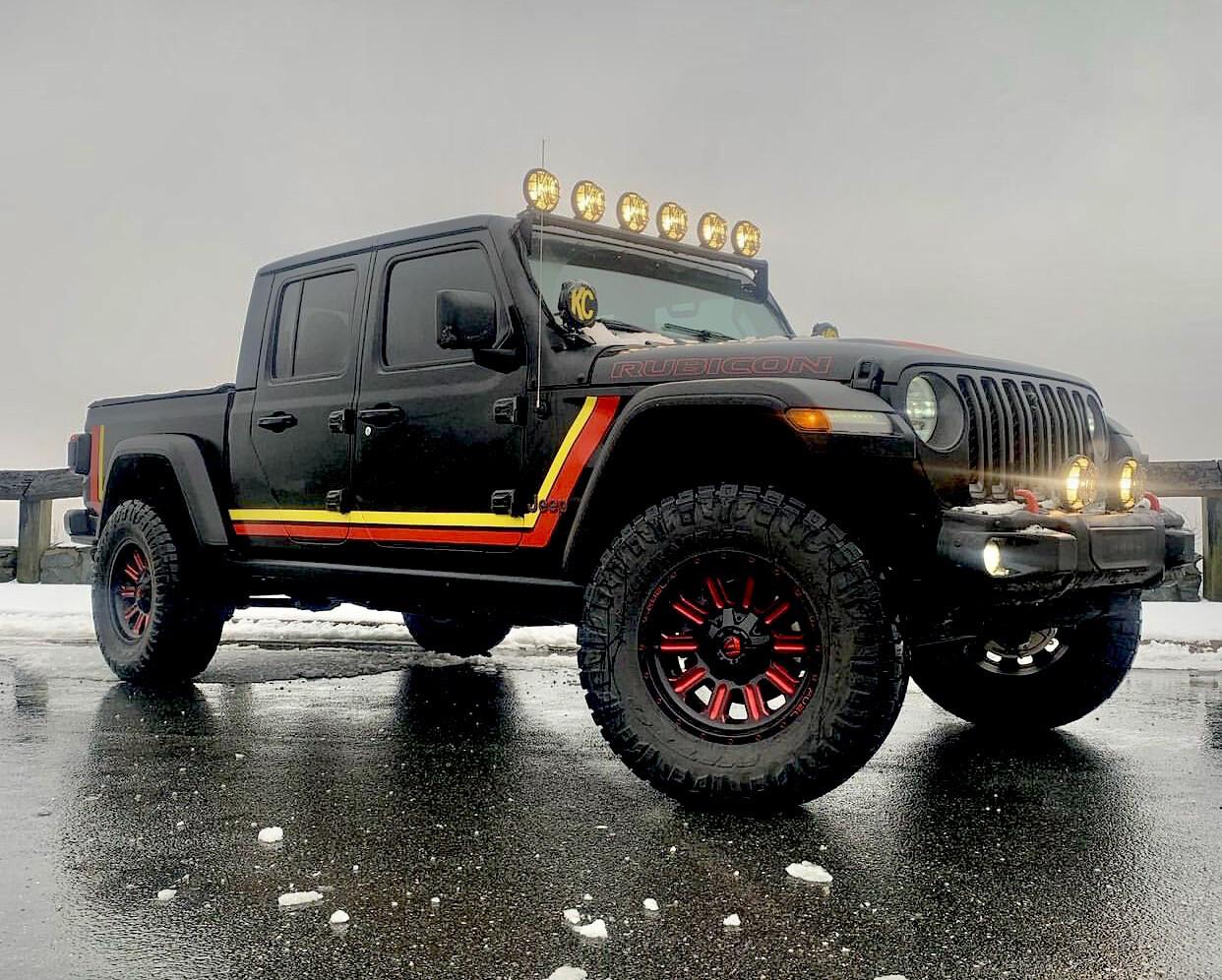 2020 & Up Jeep Gladiator Retro Scrambler Style #1 Side Stripes
