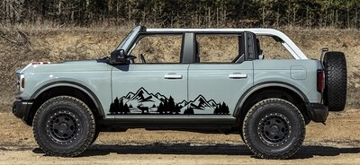 2021-up Ford Bronco Lower Body Large Mountain Graphics Kit