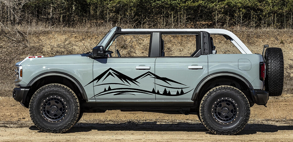 2021-up Ford Bronco Large Bodyside Mountain Graphics Kit
