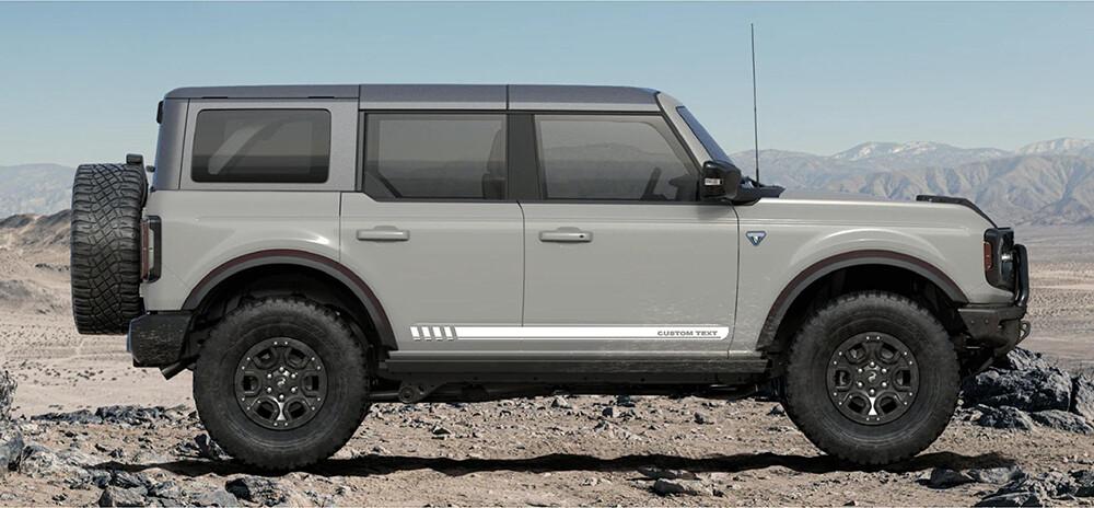 2021-up Ford Bronco FE Inspired Rocker Stripe Side Graphics Kit