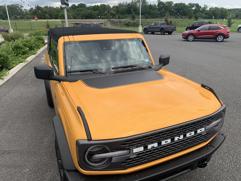 2021-up Ford Bronco Hood Bump Vinyl Graphics Kit