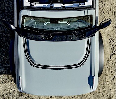 2021-up Ford Bronco Retro Explorer #1 Style Hood Bump Surround Vinyl Graphics Kit