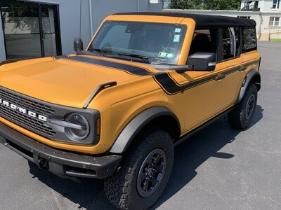 2021-up Ford Bronco Retro Special Decor Style Side/Hood Graphics Kit (Below Body Line)