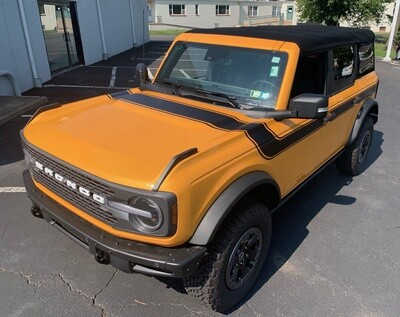2021-up Ford Bronco Retro Special Decor Style Side/Hood Graphics Kit (Wide Below Body Line)