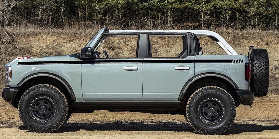 2021-up Ford Bronco Full Length FE Style Upper Side Stripe Kit
