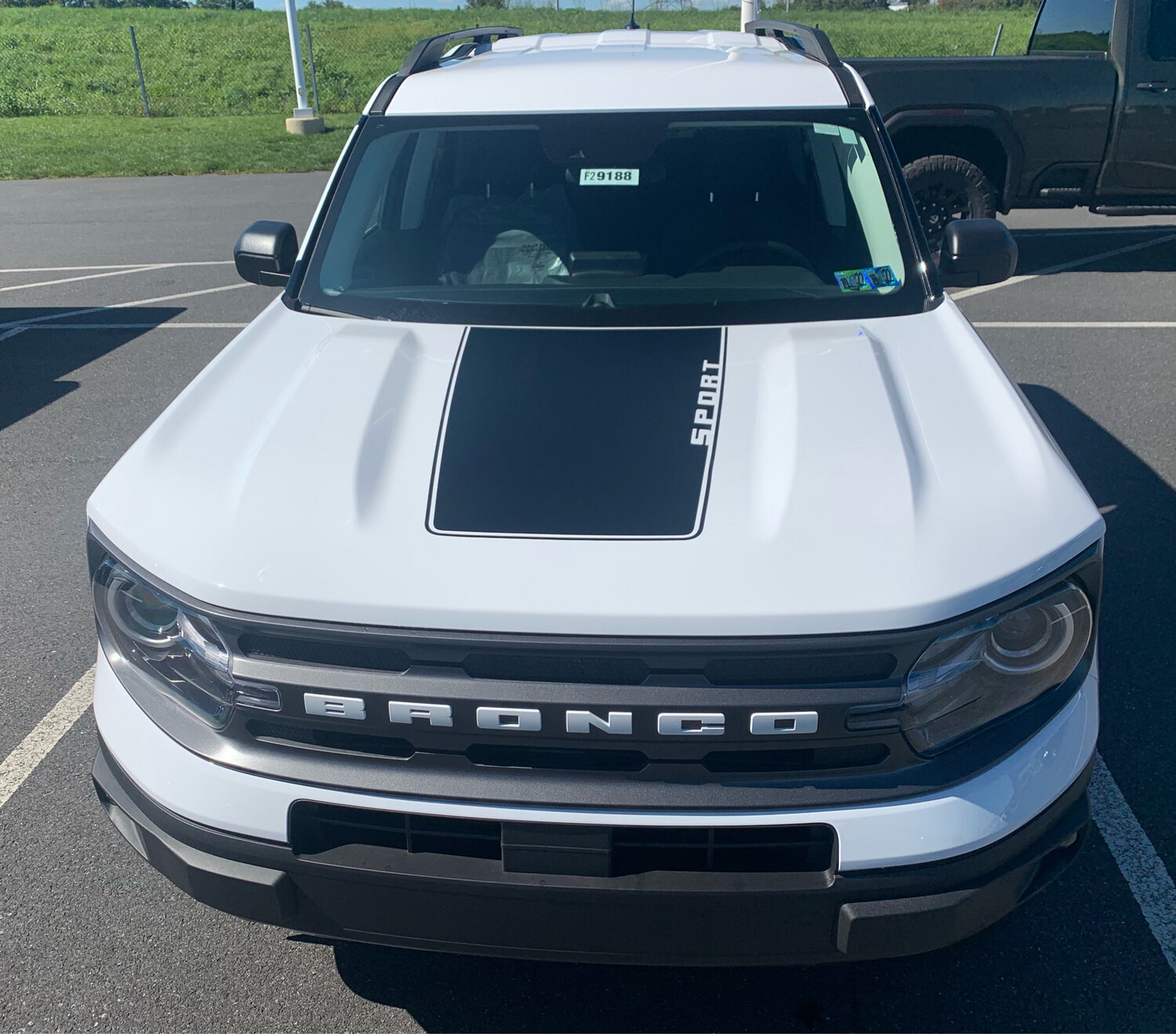 2021-up Bronco Sport Hood Blackout Decal Graphics